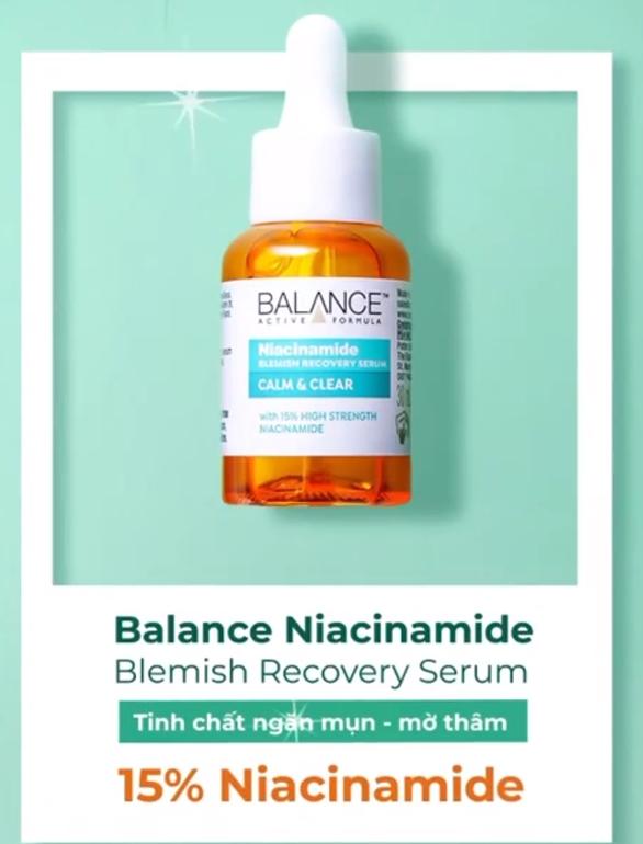 balance niacinamide blemish recovery
