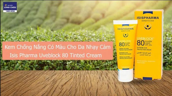 isis pharma uveblock 80 tinted cream